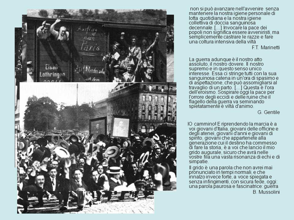 LA GRANDE GUERRA 1914/1918 28 giugno attentato di Sarajevo: assassinio di Francesco Ferdinando 23 luglio ultimatum austriaco alla Serbia 28 luglio lAustria dichiara guerra alla Serbia 1 agosto la Germania dichiara guerra alla Russia che ha mobilitato lesercito 3 agosto la Germania dichiara guerra alla Francia che sta mobilitando le proprie forze
