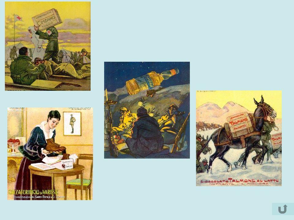 Nelle immagini della propaganda, la guerra è sempre giusta e vittoriosa, mentre il nemico è immancabilmente infido, cattivo e in malafede.