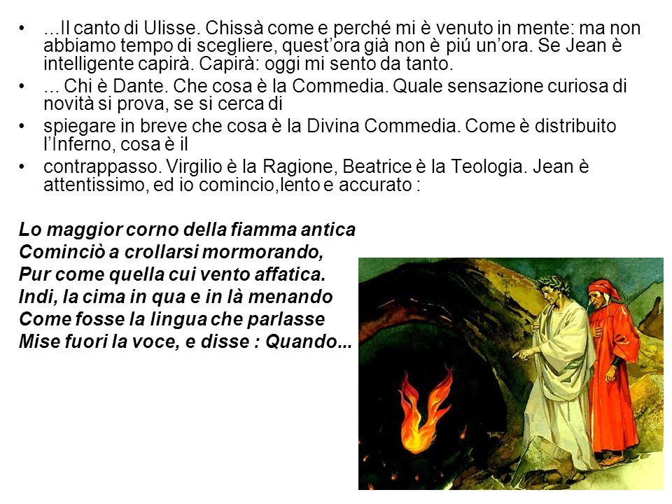Qui mi fermo e cerco di tradurre.Disastroso: povero Dante e povero francese.