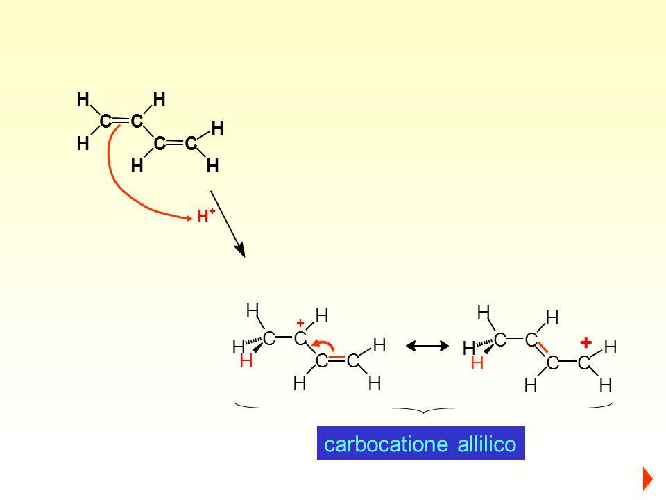 C H CC H HH C H H H + C H C H H H H C H H C + carbocatione allilico CC H C H HC H HH H +