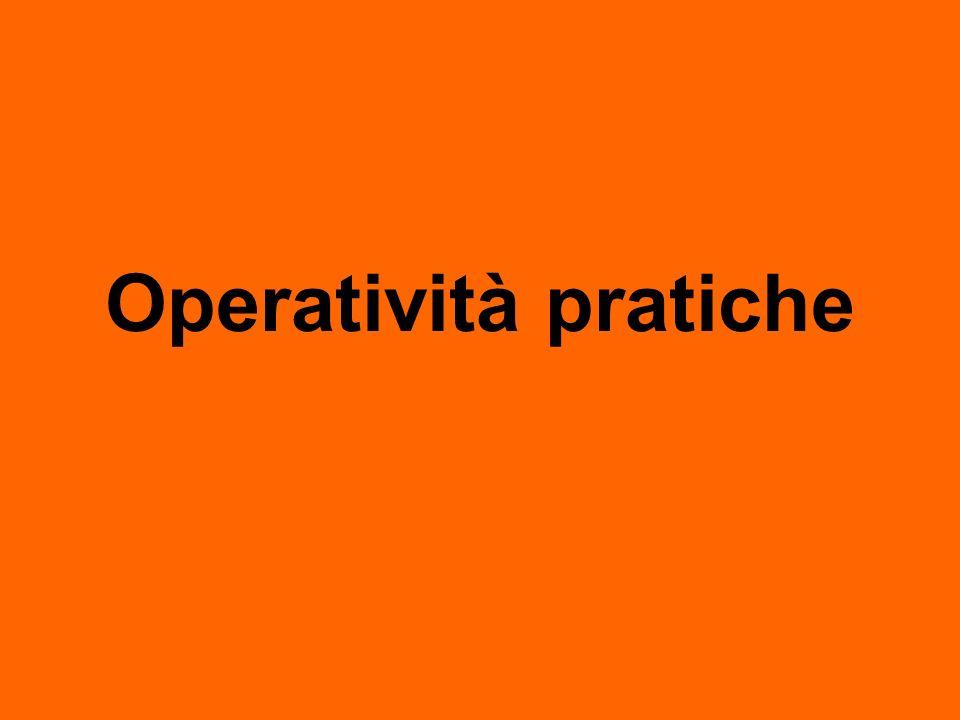 Operatività pratiche