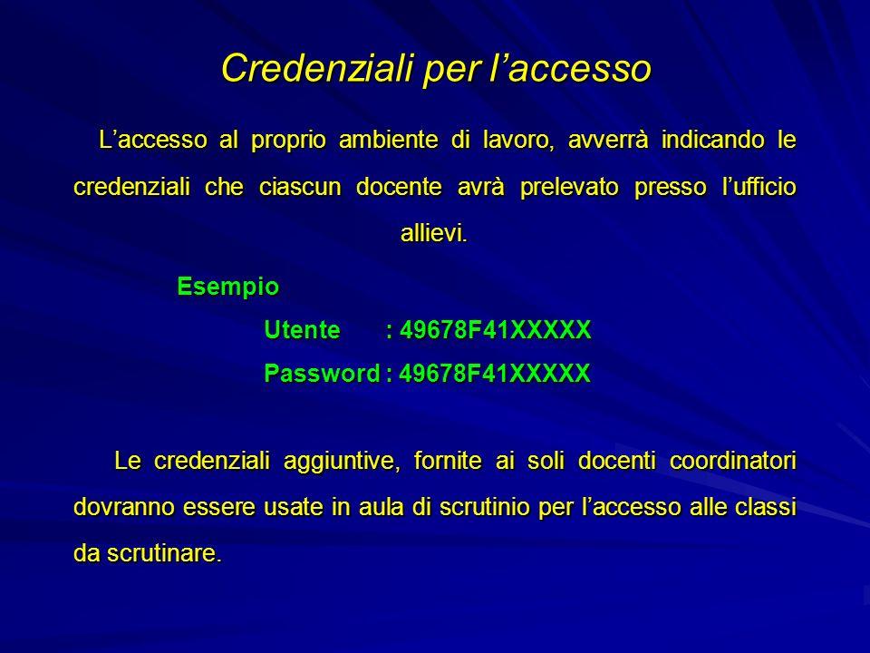 Al primo accesso lutente avrà la possibilità di cambiare la password ed anche il nome utente.