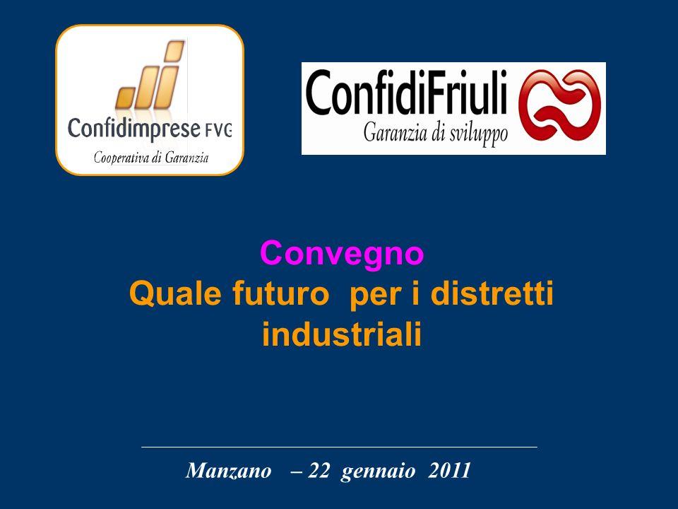 Manzano – 22 gennaio 2011 Convegno Quale futuro per i distretti industriali