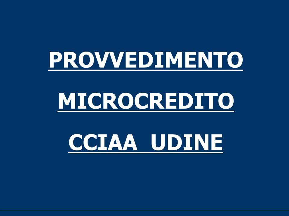 PROVVEDIMENTO MICROCREDITO CCIAA UDINE