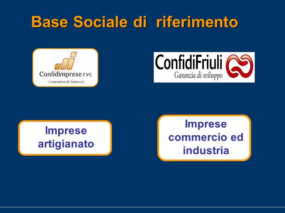 Base Sociale di riferimento Imprese artigianato Imprese commercio ed industria