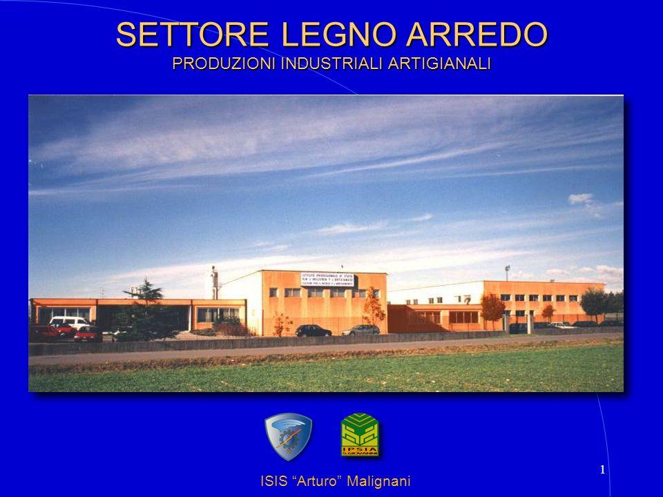 ISIS Arturo Malignani 2 SETTORE LEGNO ARREDO PRODUZIONI INDUSTRIALI ARTIGIANALI Laboratori tecnologici Esercitazioni pratiche I PROGRAMMI