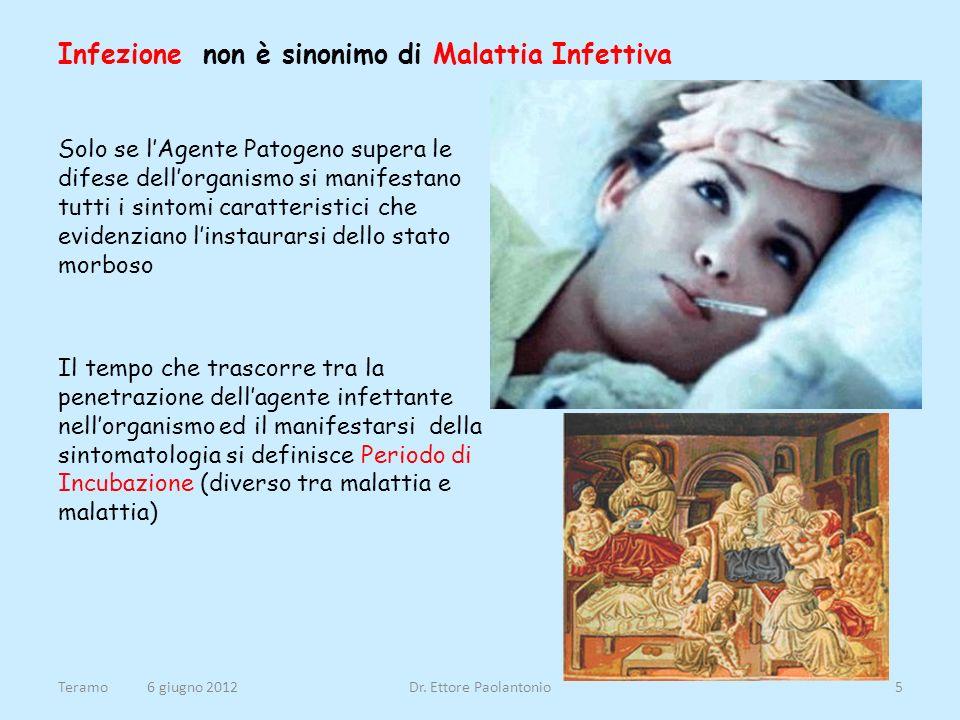 Infezione non è sinonimo di Malattia Infettiva Solo se lAgente Patogeno supera le difese dellorganismo si manifestano tutti i sintomi caratteristici c