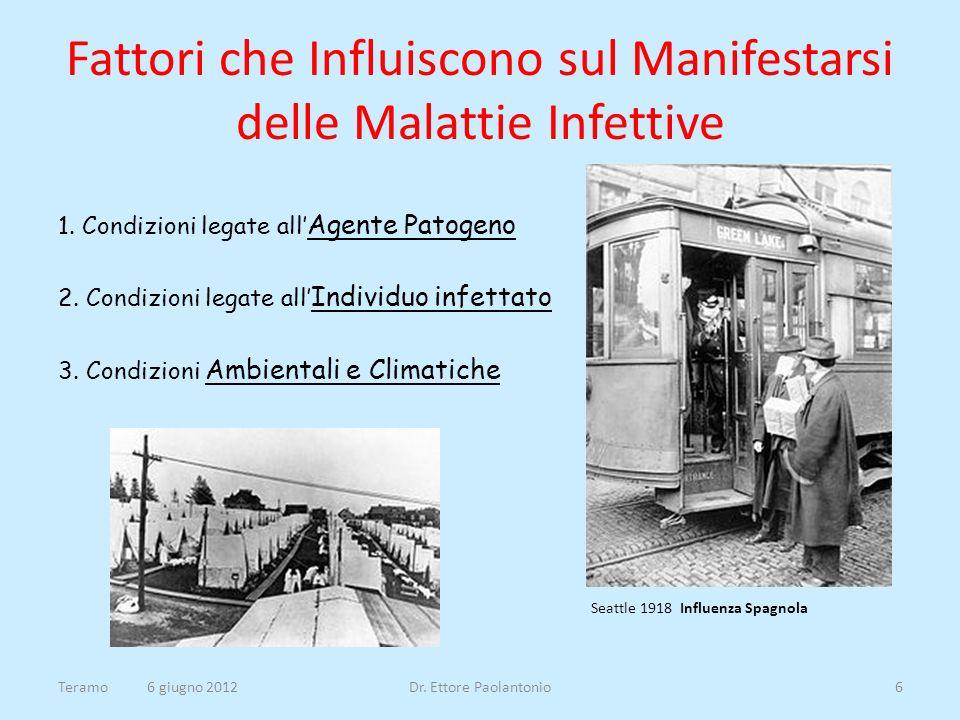 PORTATORI - Precoci - Convalescenti - Sani Teramo 6 giugno 2012Dr. Ettore Paolantonio17