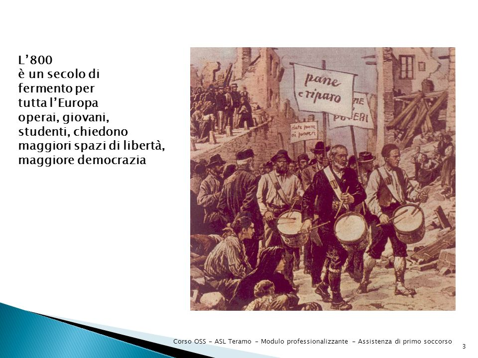 Corso OSS - ASL Teramo - Modulo professionalizzante - Assistenza di primo soccorso 14 CON IL FASCISMO Nel 1930 il regime fascista scioglie tutte le associazioni che non avevano riconoscimento giuridico e ne trasferisce beni e competenze alla Croce Rossa Italiana.