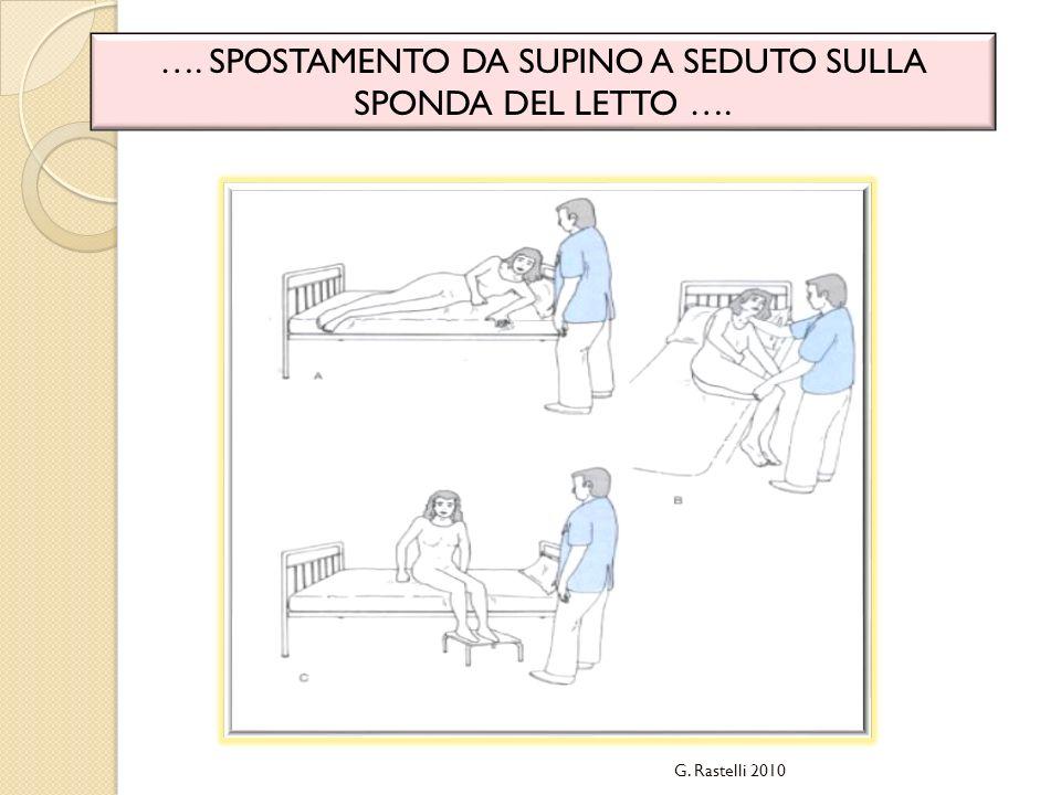 …. SPOSTAMENTO DA SUPINO A SEDUTO SULLA SPONDA DEL LETTO …. G. Rastelli 2010