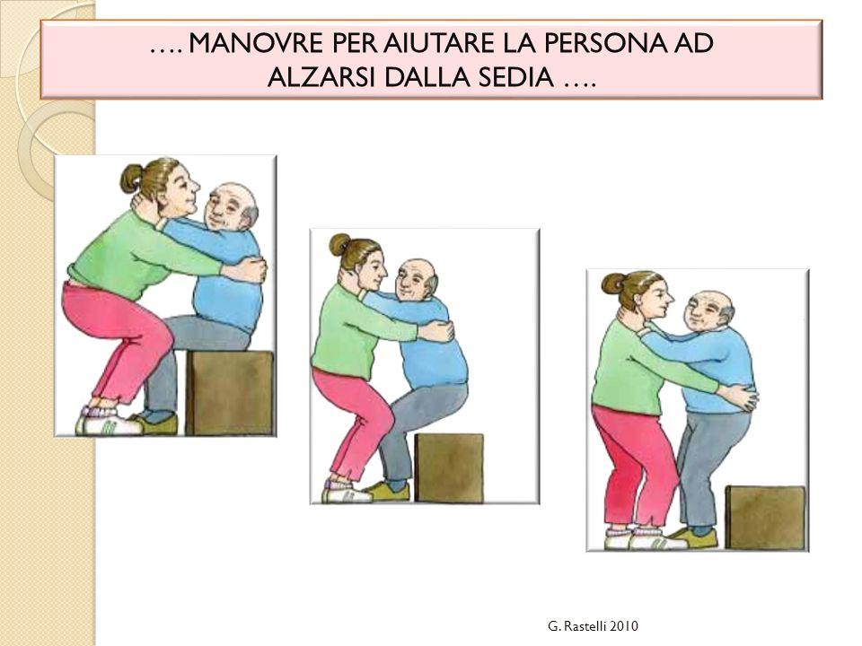 …. MANOVRE PER AIUTARE LA PERSONA AD ALZARSI DALLA SEDIA …. G. Rastelli 2010