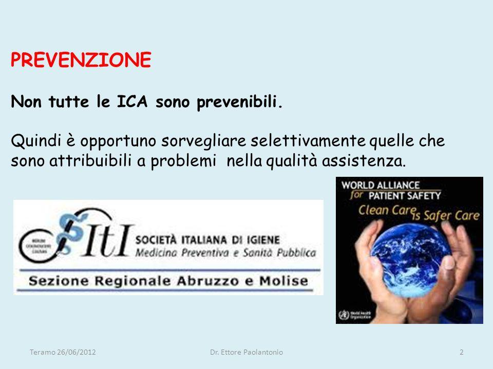 Grazie per la cortese attenzione………… Teramo 26/06/2012Dr. Ettore Paolantonio13