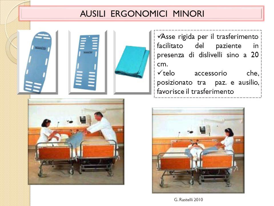 AUSILI ERGONOMICI MINORI Asse rigida per il trasferimento facilitato del paziente in presenza di dislivelli sino a 20 cm. telo accessorio che, posizio