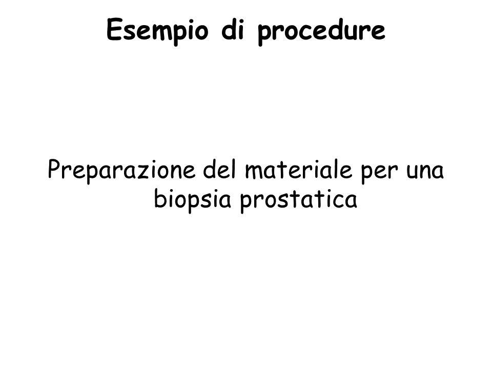 Esempio di procedure Preparazione del materiale per una biopsia prostatica