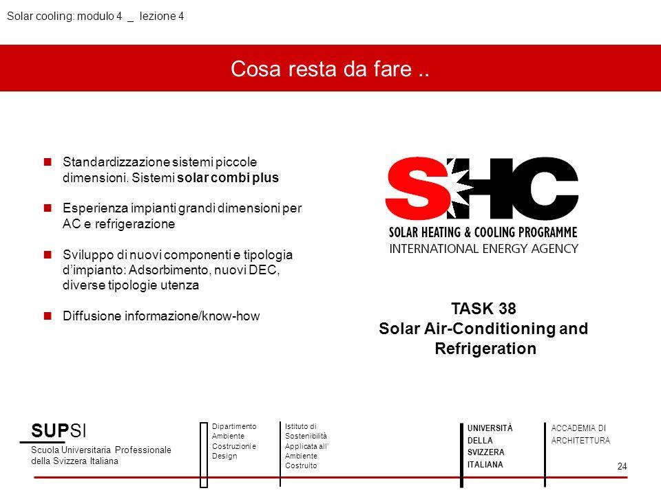 Cosa resta da fare.. SUPSI Scuola Universitaria Professionale della Svizzera Italiana Dipartimento Ambiente Costruzioni e Design Istituto di Sostenibi