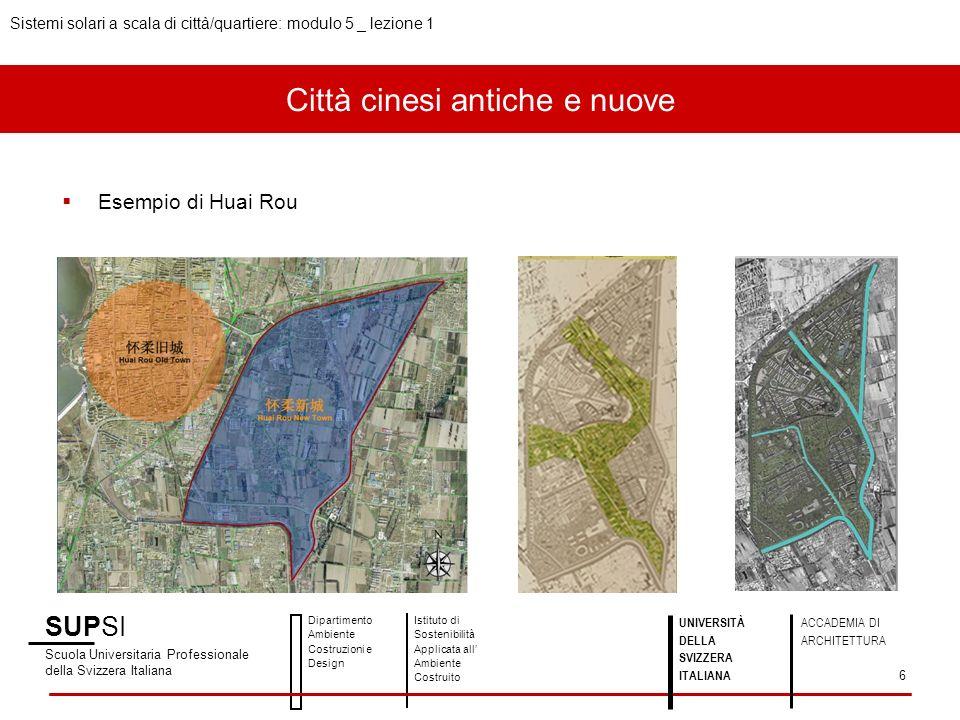 Città cinesi antiche e nuove Esempio di Huai Rou SUPSI Scuola Universitaria Professionale della Svizzera Italiana Dipartimento Ambiente Costruzioni e