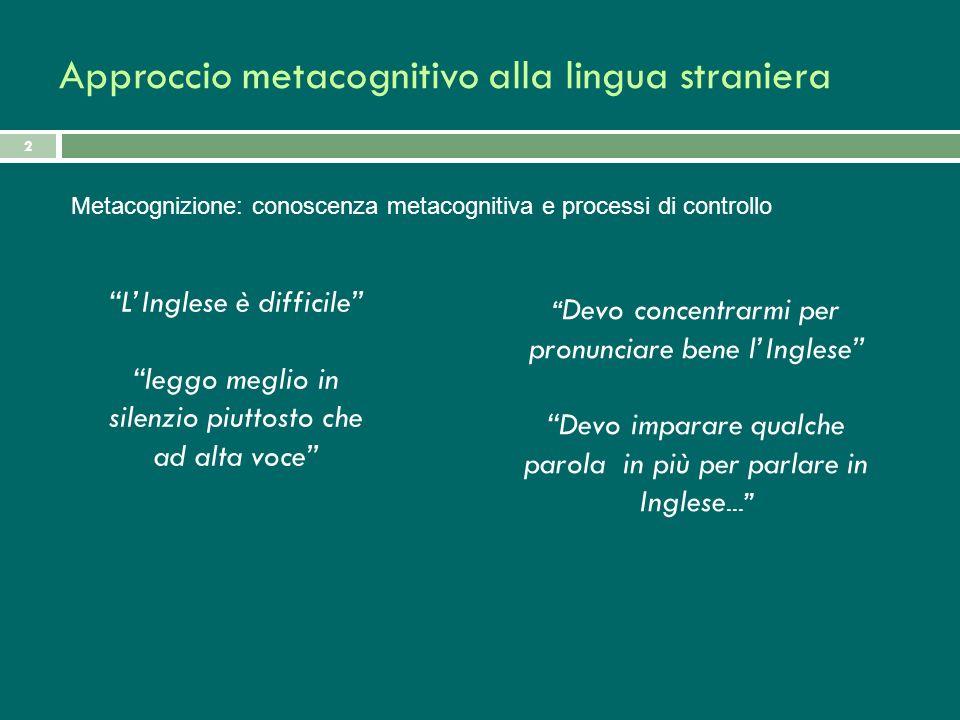 2 LInglese è difficile leggo meglio in silenzio piuttosto che ad alta voce Devo concentrarmi per pronunciare bene lInglese Devo imparare qualche parol