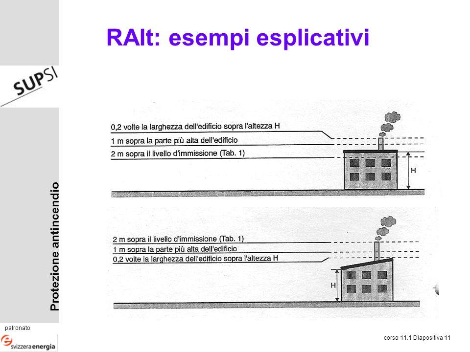 Protezione antincendio patronato corso 11.1 Diapositiva 11 RAlt: esempi esplicativi