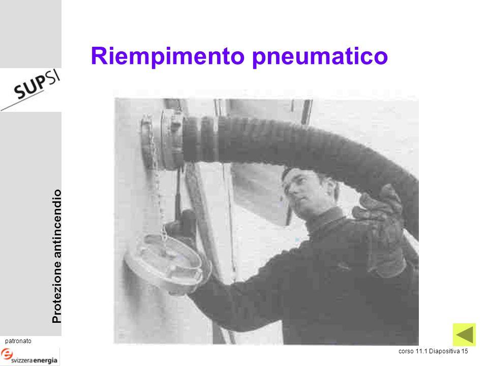 Protezione antincendio patronato corso 11.1 Diapositiva 15 Riempimento pneumatico