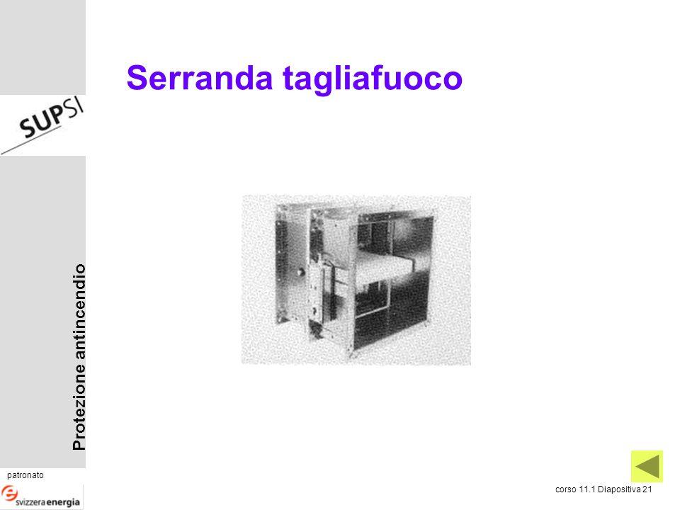 Protezione antincendio patronato corso 11.1 Diapositiva 21 Serranda tagliafuoco