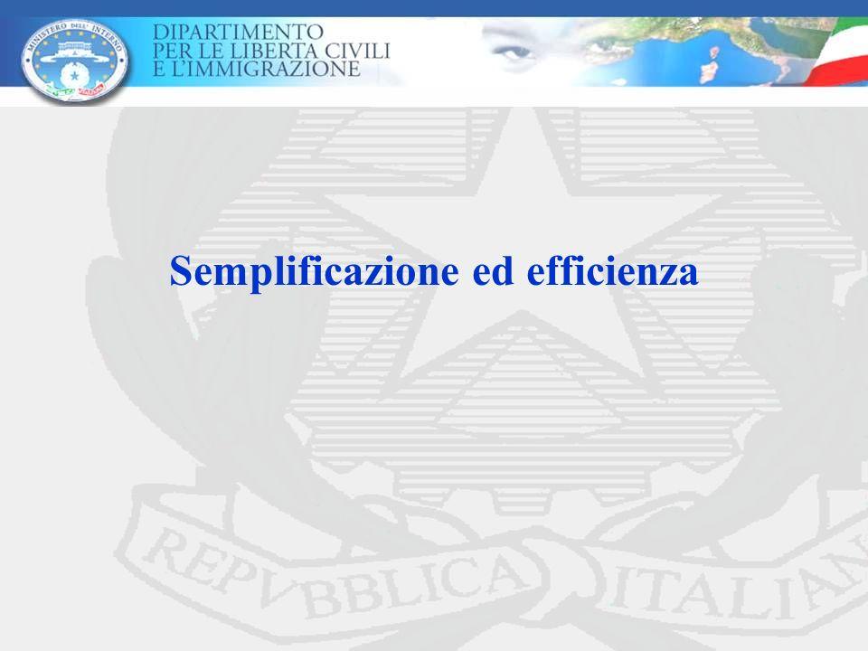 Semplificazione ed efficienza