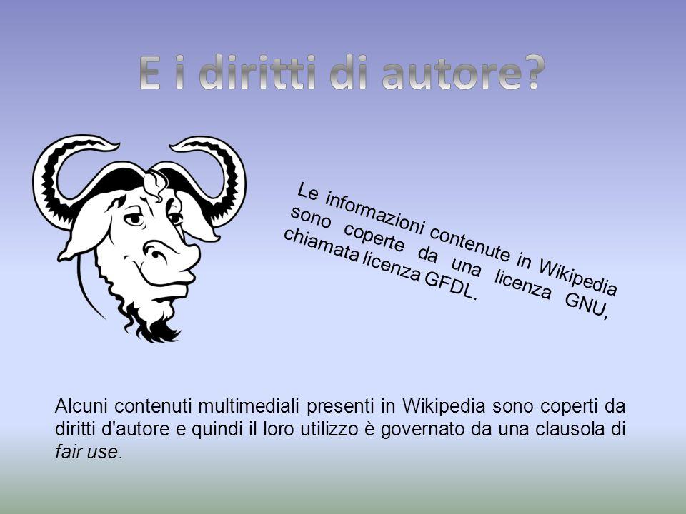 Alcuni contenuti multimediali presenti in Wikipedia sono coperti da diritti d autore e quindi il loro utilizzo è governato da una clausola di fair use.