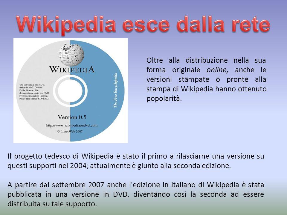 Oltre alla distribuzione nella sua forma originale online, anche le versioni stampate o pronte alla stampa di Wikipedia hanno ottenuto popolarità.
