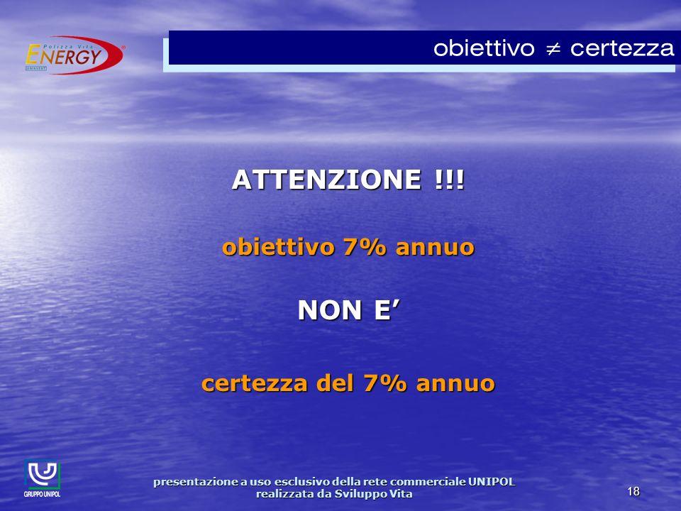 presentazione a uso esclusivo della rete commerciale UNIPOL realizzata da Sviluppo Vita 18 ATTENZIONE !!.