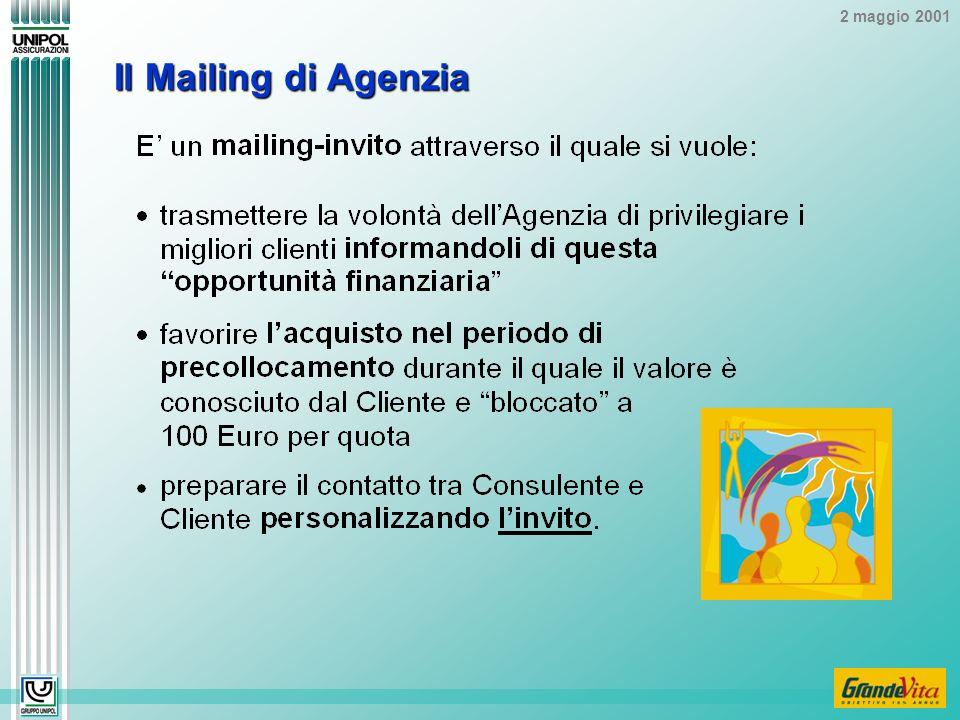 2 maggio 2001 Il Mailing di Agenzia