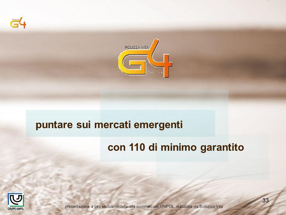 presentazione a uso esclusivo della rete commerciale UNIPOL realizzata da Sviluppo Vita 33 puntare sui mercati emergenti con 110 di minimo garantito