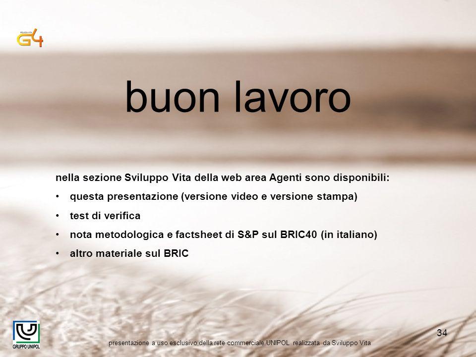 presentazione a uso esclusivo della rete commerciale UNIPOL realizzata da Sviluppo Vita 34 buon lavoro nella sezione Sviluppo Vita della web area Agen