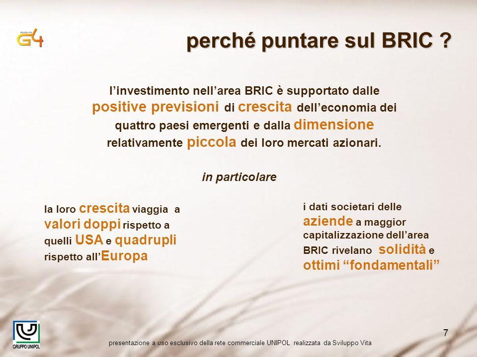 presentazione a uso esclusivo della rete commerciale UNIPOL realizzata da Sviluppo Vita 7 perché puntare sul BRIC ? in particolare linvestimento nella