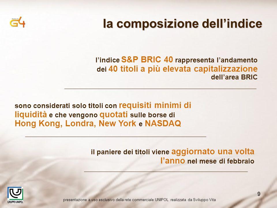 presentazione a uso esclusivo della rete commerciale UNIPOL realizzata da Sviluppo Vita 9 sono considerati solo titoli con requisiti minimi di liquidi