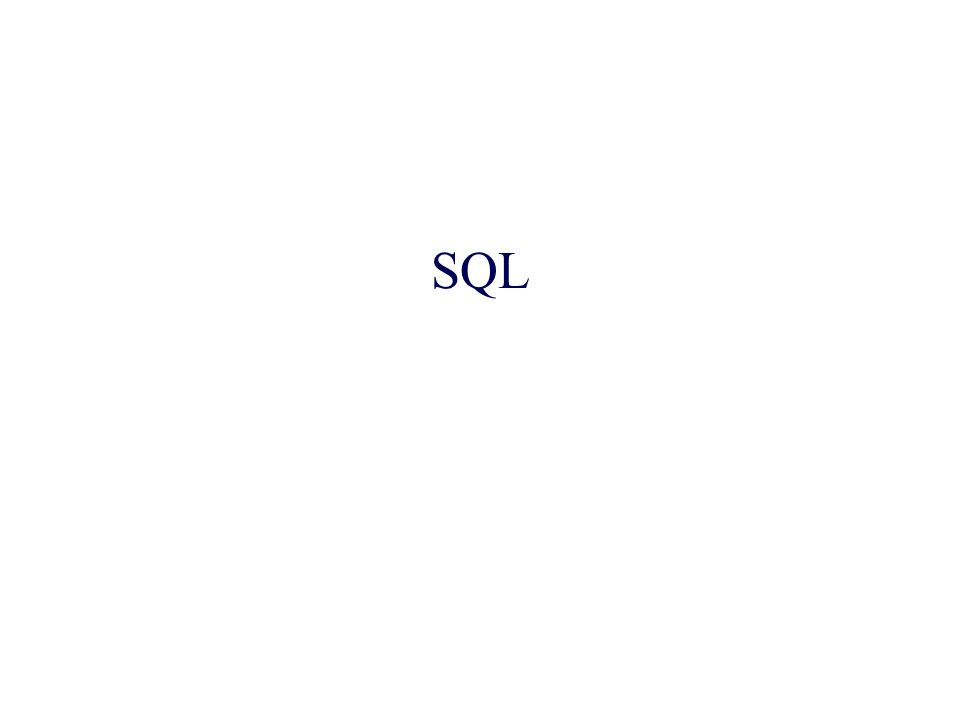 Il nome sta per Structured Query Language Le interrogazioni SQL sono dichiarative –lutente specifica quale informazione è di suo interesse, ma non come estrarla dai dati Le interrogazioni vengono tradotte dallottimizzatore (query optimizer) nel linguaggio procedurale interno al DBMS Il programmatore si focalizza sulla leggibilità, non sullefficienza È l aspetto più qualificante delle basi di dati relazionali