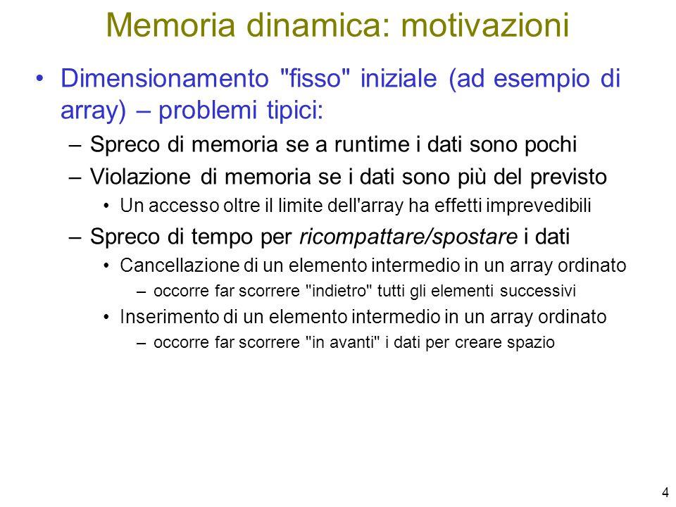 65 Visualizzare la lista void VisualizzaLista( ListaDiElem lista ) { if ( ListaVuota(lista) ) printf( ---| \n ); else { printf( %d\n ---> , lista–>info); VisualizzaLista( lista–>prox ); } È un po brutto il rendering dellultimo elemento...
