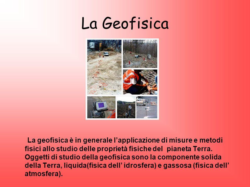 La Geofisica La geofisica è in generale lapplicazione di misure e metodi fisici allo studio delle proprietà fisiche del pianeta Terra. Oggetti di stud