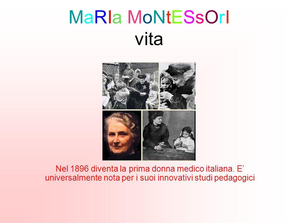 MaRIa MoNtESsOrI vita Nel 1896 diventa la prima donna medico italiana.