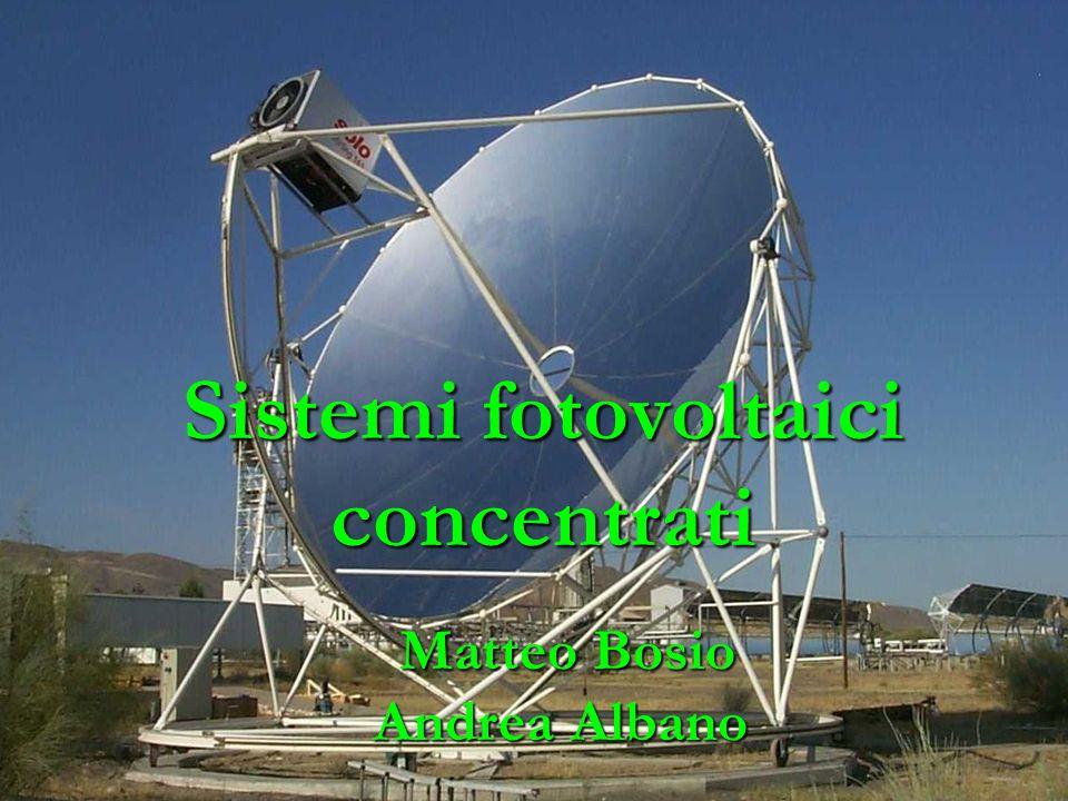 Sistemi fotovoltaici concentrati Matteo Bosio Andrea Albano Matteo Bosio Andrea Albano