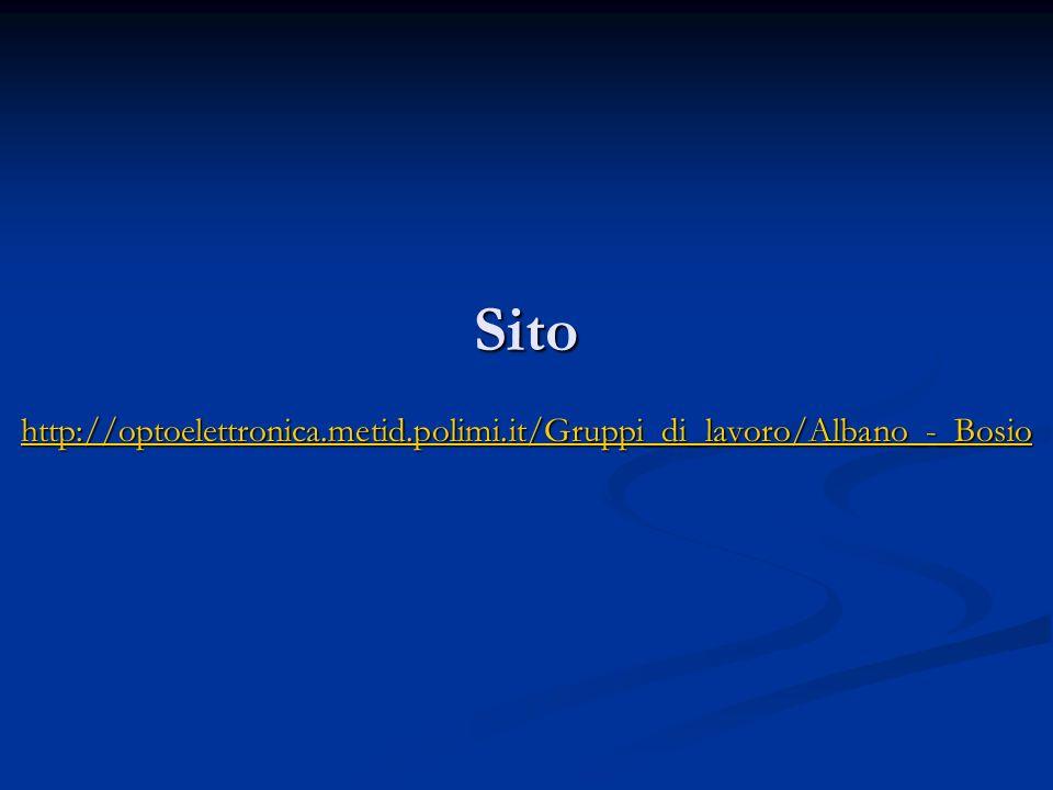 Sito http://optoelettronica.metid.polimi.it/Gruppi_di_lavoro/Albano_-_Bosio