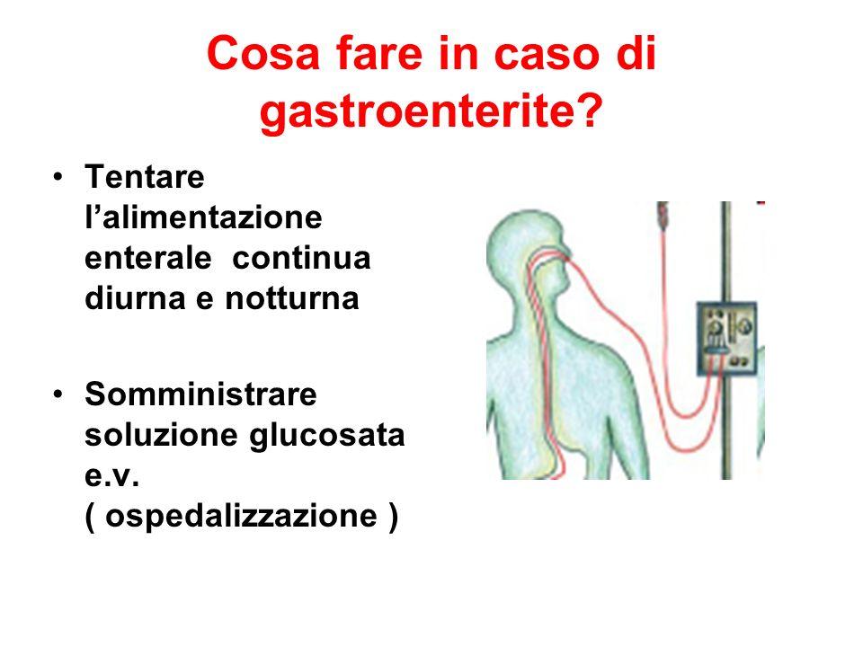 Cosa fare in caso di gastroenterite.