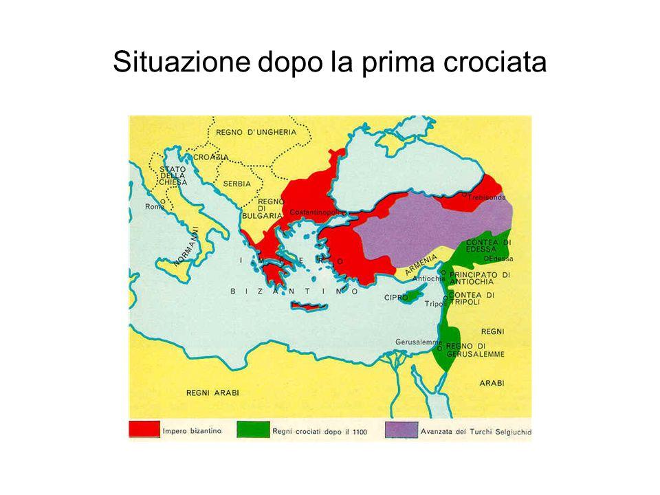 Situazione dopo la prima crociata