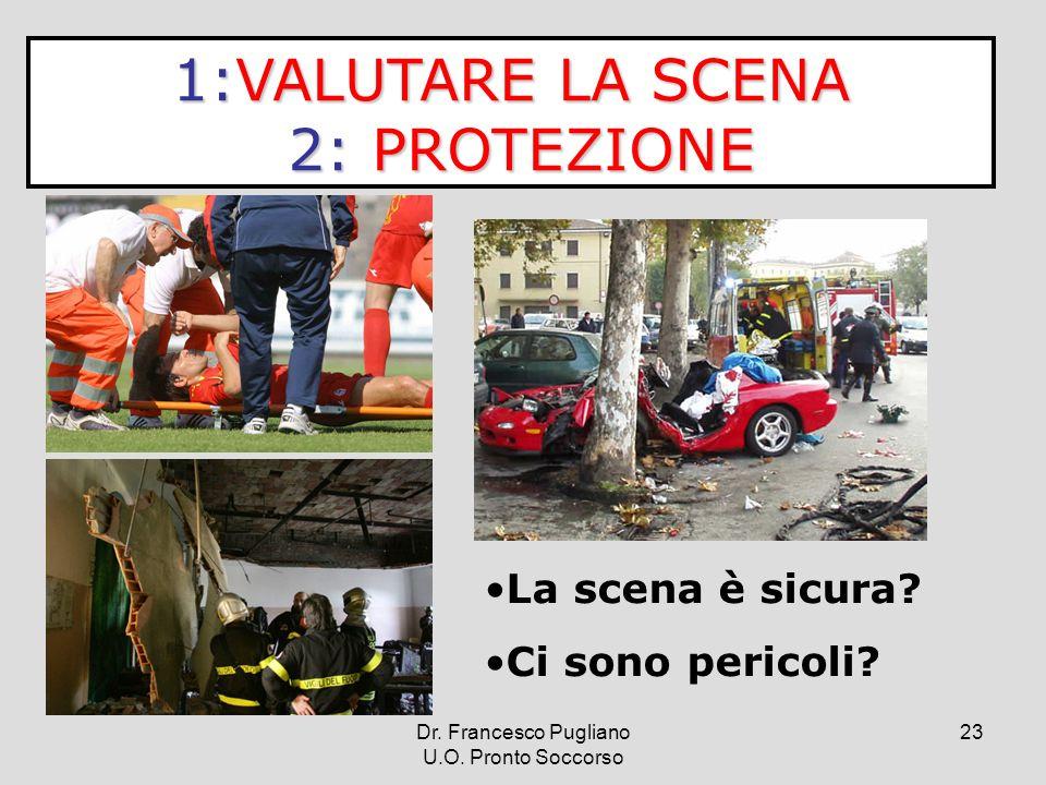 23 1:VALUTARE LA SCENA 2: PROTEZIONE 2: PROTEZIONE La scena è sicura? Ci sono pericoli? Dr. Francesco Pugliano U.O. Pronto Soccorso
