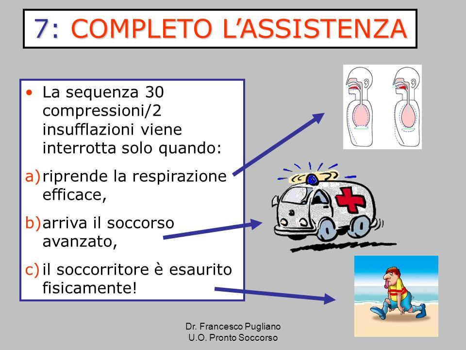 38 La sequenza 30 compressioni/2 insufflazioni viene interrotta solo quando: a)riprende la respirazione efficace, b)arriva il soccorso avanzato, c)il