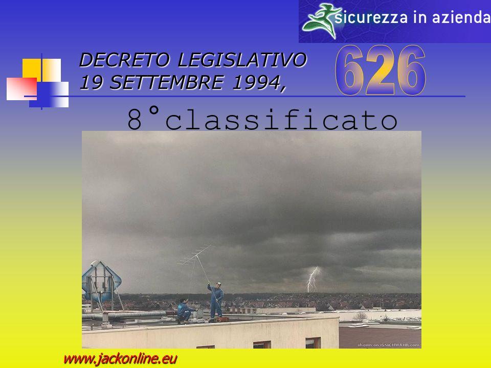 DECRETO LEGISLATIVO 19 SETTEMBRE 1994, www.jackonline.eu 7°classificato