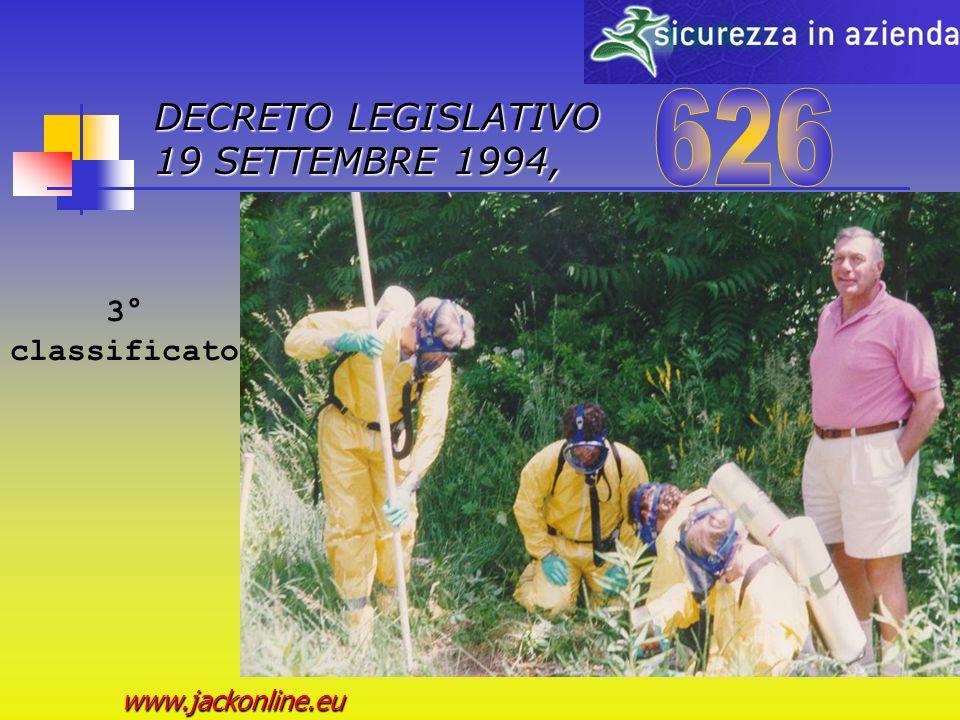 DECRETO LEGISLATIVO 19 SETTEMBRE 1994, www.jackonline.eu 2° classificato