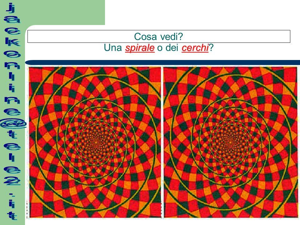 Concentrati sulla croce al centro e dopo alcuni secondi ti accorgerai che i cerchi rosa che girano sono in realtà VERDI!!.
