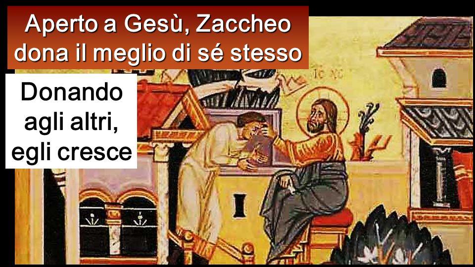 Ma Zacchèo, alzatosi, disse al Signore: «Ecco, Signore, io do la metà di ciò che possiedo ai poveri e, se ho rubato a qualcuno, restituisco quattro vo