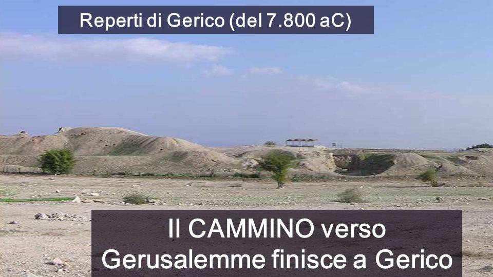 Reperti di Gerico (del 7.800 aC) Il CAMMINO verso Gerusalemme finisce a Gerico