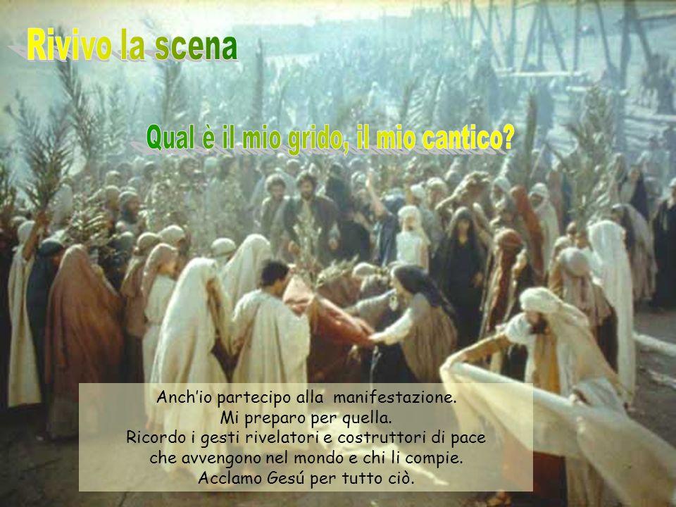 Luca 19, 28-40. Dette queste cose, Gesù proseguì avanti agli altri salendo verso Gerusalemme.
