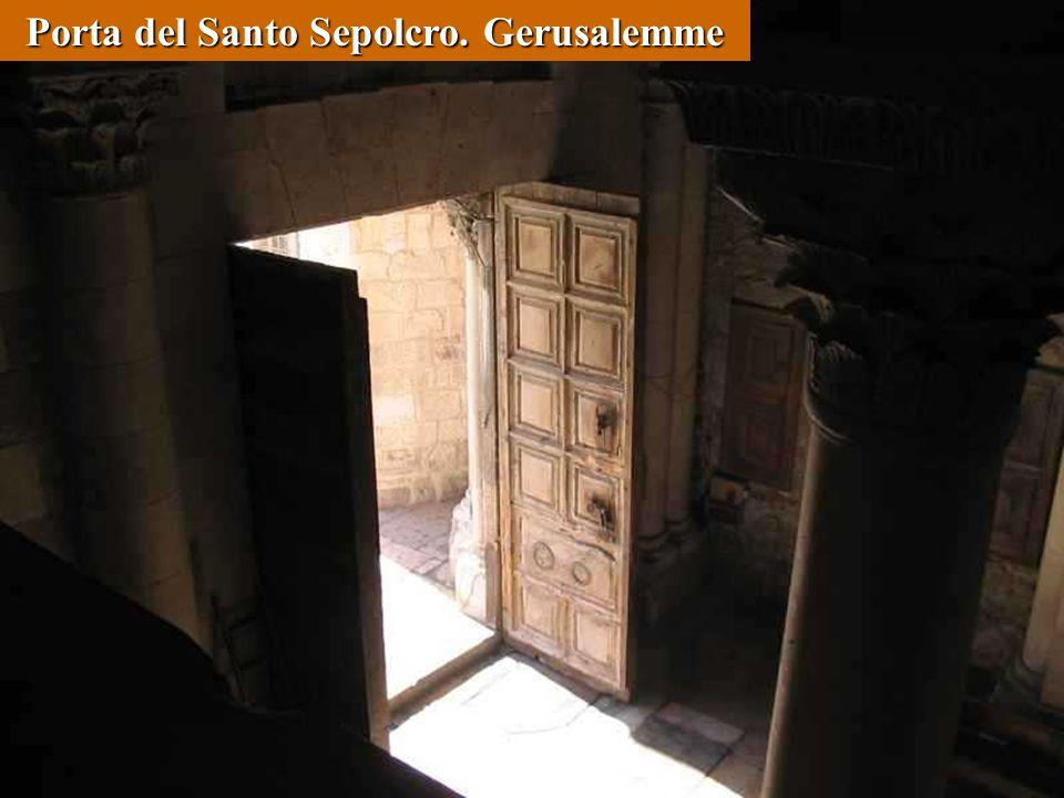 Porta del Santo Sepolcro. Gerusalemme